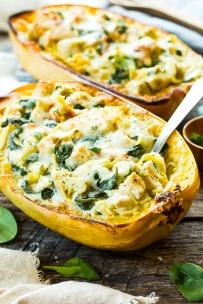 Spinach-Artichoke-Chicken-Spaghetti-Squash